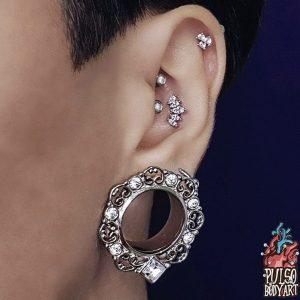 alargador cristal patiala, modelo usando em orelha 22mm.