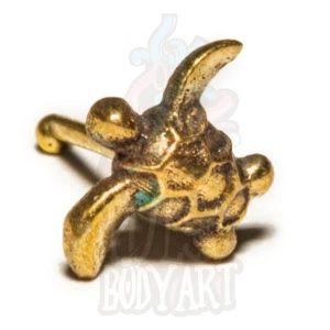 Piercing Nariz Delicado Bronze Tartaruga, para furos nostril.