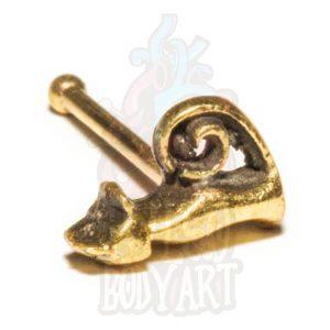 piercing bijuteria nariz gato, em bronze para furos nostril.